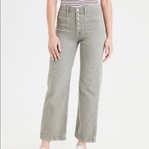 American Eagle Outfitters wise leg cropped jeans